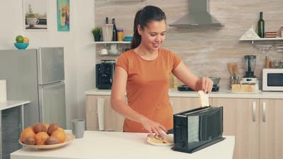 Using Bread Toaster