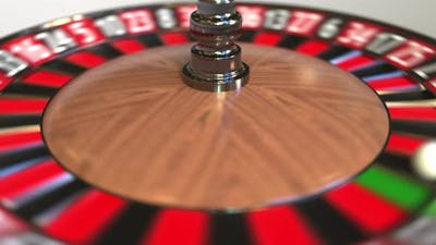 Casino Roulette Wheel Ball Hits Thirtytwo Red