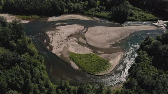Unique Riverbed Natural Textures Captured By Passing Drone