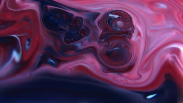 Thumbnail for Dreamy Psychedelic  Liquid Paint Splashing Blasting Colour Mix Art Design