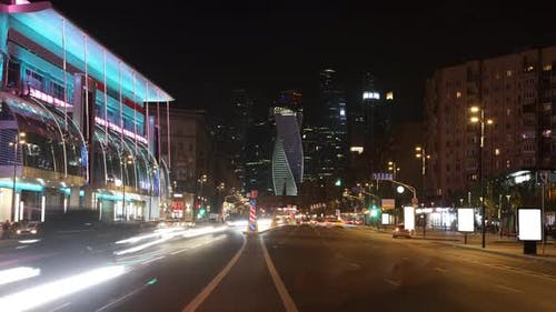 Traffic on The Highway of The Night City