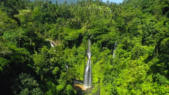 Thumbnail for Amazing Tropical Waterfall in Bali, Indonesia