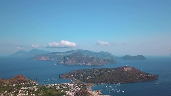 Thumbnail for Aerial View on Lipari Islands, Mediterranean Sea