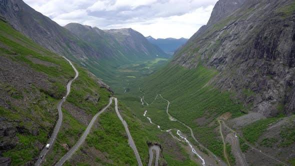 Thumbnail for Trolls Path Trollstigen or Trollstigveien Winding Mountain Road