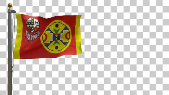 Thumbnail for Aroostook Band of Micmac Flag on Flagpole with Alpha Channel