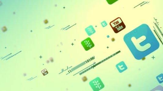 Social Media Multipal Icon Intro