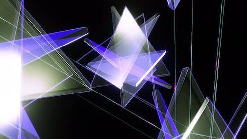 Flight Of Glass Triangles Lilac 4K