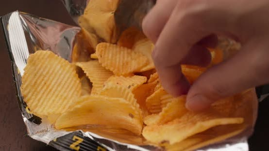 Thumbnail for Close up pack of potato chip