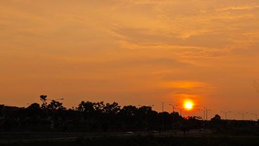 Thumbnail for Time Lapse Sunset Over Housing Row Full HD