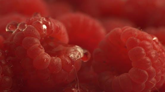 Water dripping onto raspberry in super slow motion.  Shot on Phantom Flex 4K high speed camera.