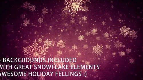 Backgrounds With Snowflake Elements - 5 pack