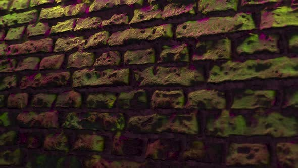 Thumbnail for Empty Brick Wall with Neon Light Copy Space