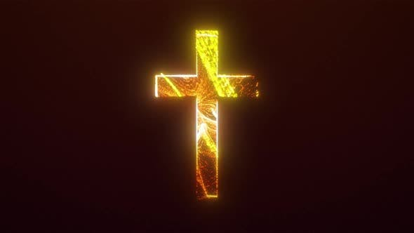 Brightly Light Cross with Curl Noise