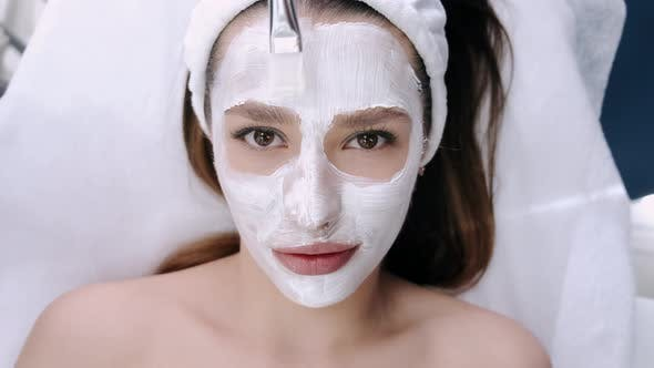Thumbnail for Closeup of Woman Face with Mask While Having Procedure