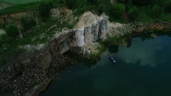 Thumbnail for Flooded Excavator in Basaltic Quarry Lake