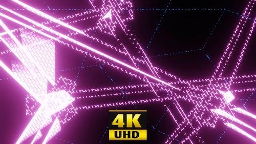 Disco-Tanz-Linien 4K