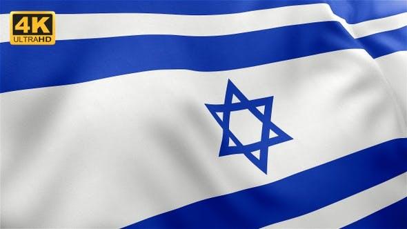 Thumbnail for Flag of Israel - 4K