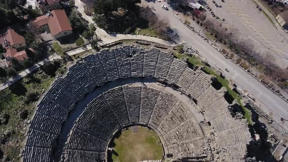Thumbnail for Aerial Footage of the Antique Theater. Side, Turkey