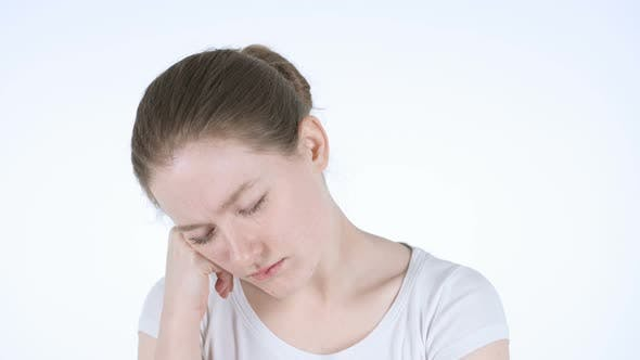 Cover Image for Tired Young Woman Sleeping Gesture