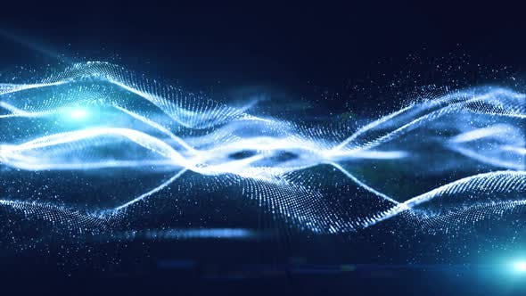 Digital Particles Technology Background  00425 FHD