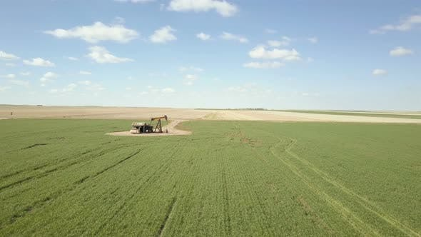 Thumbnail for Aerial view of farmlands on Eastern Plains in the Spring.