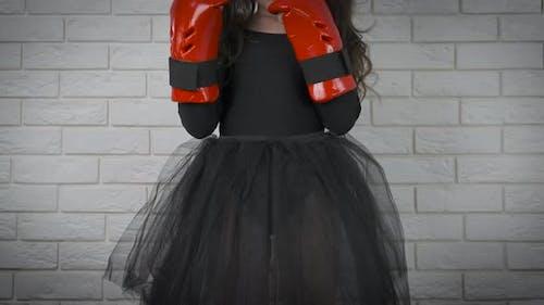 Mächtiges Mädchen Boxer