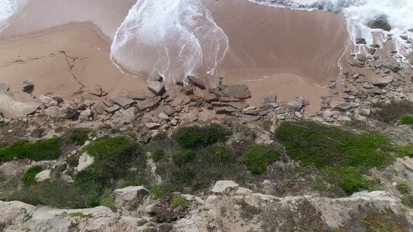 Thumbnail for Aerial view of Cliffs by the Sea