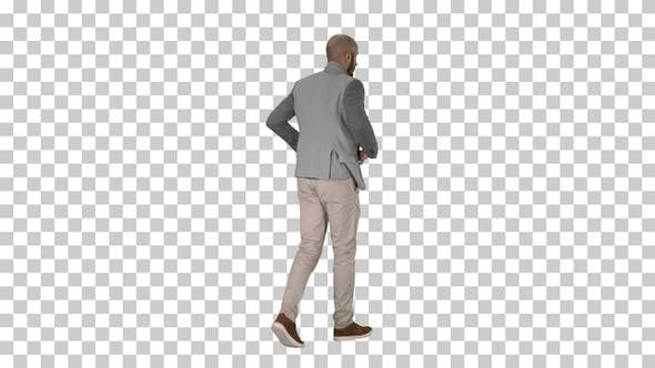 Thumbnail for Casual man putting blazer on It is getting cold, Alpha Channel