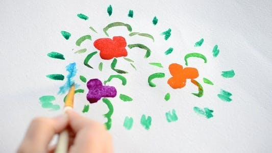 Thumbnail for The Child Draws A Flower