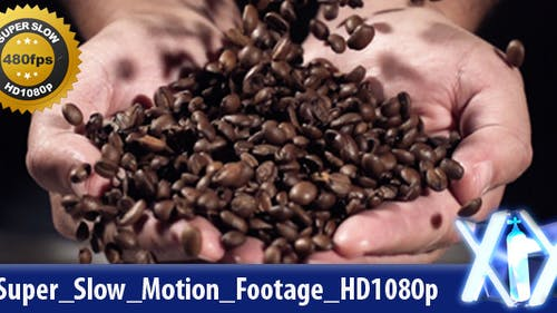 Coffe Beans Falling 480fps