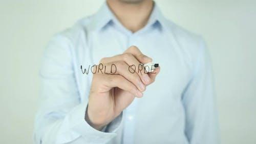 World Order, Writing On Transparent Screen