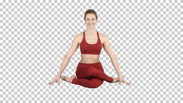 Thumbnail for Yoga Mädchen Üben Nadi Shodhana Pranayama oder Atmen