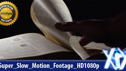 Old Book Reading 480fps