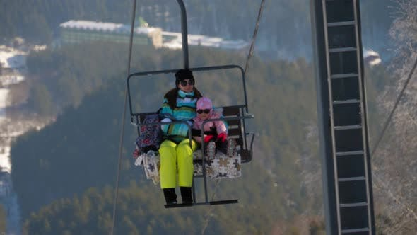 Thumbnail for Winter Mountains Panorama, Ski Lifts