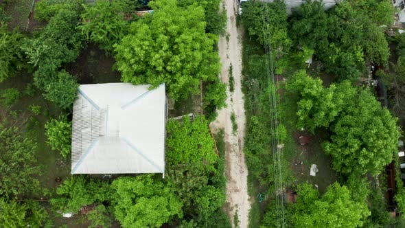 Thumbnail for Top Down View of Flying Over a Residential Rural Area