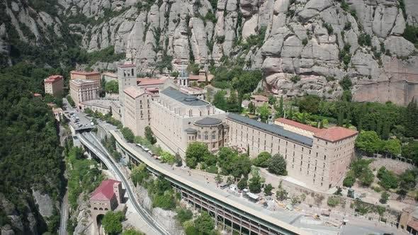 Thumbnail for Aerial Shot of Benedictine Abbey on Monsterrat