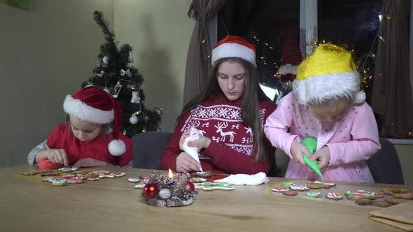 Thumbnail for Children Decorate Christmas Cookies