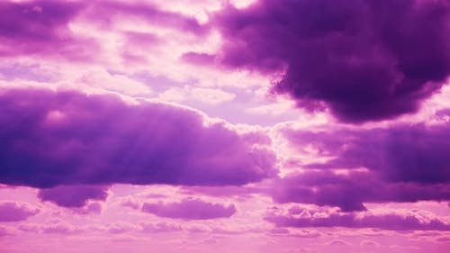 Pink Fluffy Clouds Cloud Sky Moving In Cloudy Sky