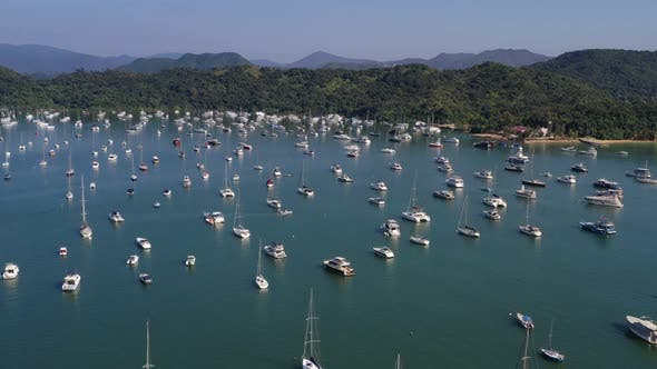 Thumbnail for Top view of Hong Kong yacht club in Sai Kung