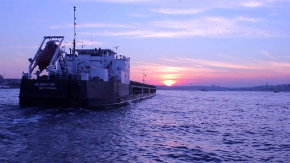 Thumbnail for Tankship At Bosphorus At sunset