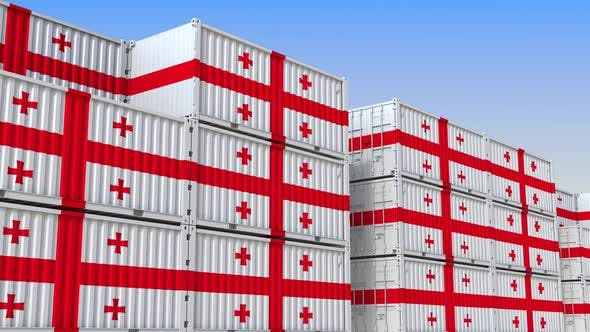 Thumbnail for Containers with Flag of Georgia