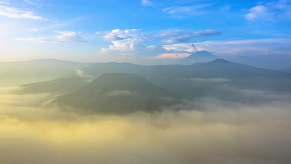 Thumbnail for Morning Mist and Active Volcanoes
