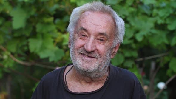 Portrait of Cheerful Rural Man