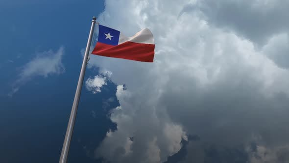 Chile Flag Waving 2K