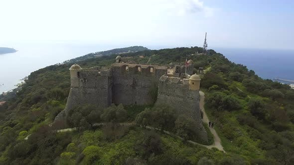 Thumbnail for Fascinating Aerial View of Ancient Bastion on Riviera at Franco-Italian Border