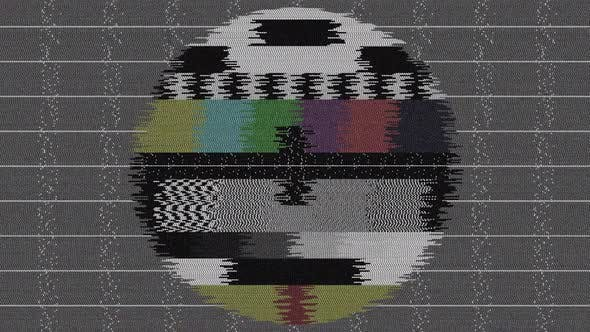 Old Tv No Signal Distortion Effect Hd
