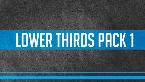 Thumbnail for Lower Thirds Pack 1
