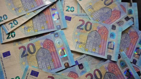Thumbnail for Many Falling 20 Euro Paper Money Bank Notes