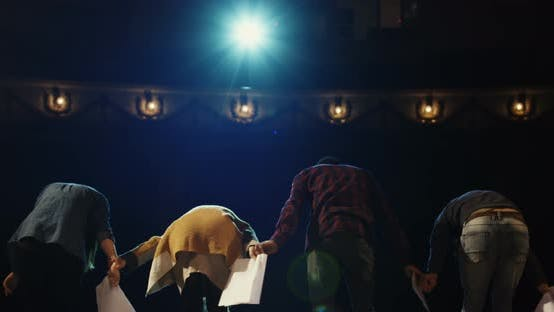 Thumbnail for Actors Bowing To Audience in a Theater