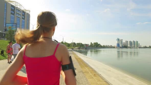 Thumbnail for Runner Woman Running In City Exercising Outdoors 8